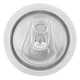 Closeupen av aluminum sodavatten kan på vit Royaltyfri Fotografi