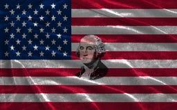 Closeupen av Amerikas förenta stater sjunker med ståenden George Washington royaltyfri foto