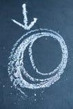 Krita cirklar och pilen Royaltyfri Bild