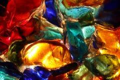 Closeup av tillbaka tänd målat glass Royaltyfria Bilder