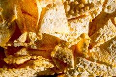 Closeupen av den söta crostolien för den italienska traditionella karnevalet som är bekant som ängel, påskyndar Arkivfoton