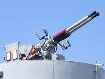 Closeupen av försvarkanonen Royaltyfria Foton