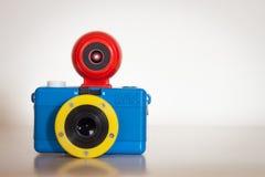 Closeupen av Fisheye behandla som ett barn motsvarighetkameran för Bauhaus 110 Fotografering för Bildbyråer