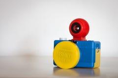Closeupen av Fisheye behandla som ett barn motsvarighetkameran för Bauhaus 110 Arkivbild