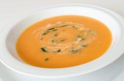 Kräm- soup för morot Royaltyfri Foto