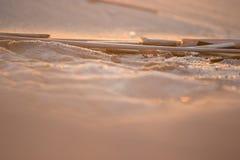 Closeupen av sander av öknen, stänger sig upp bakgrund för siktsökensander royaltyfri foto