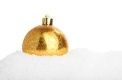 Closeupen av skins guld- hristmas klumpa ihop sig Arkivfoton