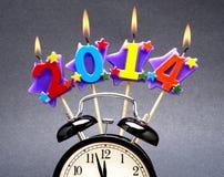 Lycklig 2014! Arkivbild