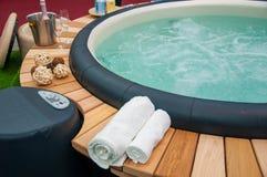 Closeupen av varmt badar royaltyfri foto