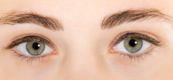 closeupen eyes kvinnan Arkivbilder