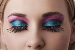 closeupen eyes makeup Royaltyfri Bild