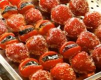 Closeupen för kanderad frukt Royaltyfria Foton