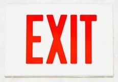 Exit undertecknar Arkivbild