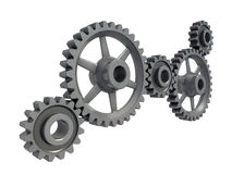 closeupen gears metall Royaltyfri Bild