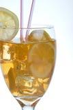 closeupen iced tea Royaltyfri Fotografi