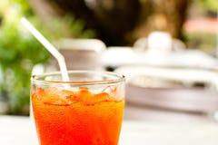 Closeupen Iced Tea Arkivbilder