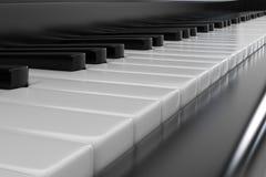 closeupen keys pianot Arkivfoto