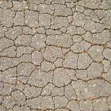 Closeupen på konkret asfalt knäcker på vägen Royaltyfri Fotografi