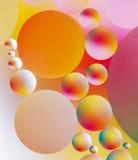 Den färgrika abstrakt begrepp bubblar Royaltyfri Bild
