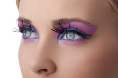 closeupfärg eyes smink Arkivbild