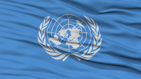 CloseupFörenta Nationernaflagga Royaltyfri Foto