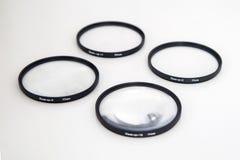 Closeupfiltersats 77mm Arkivfoton
