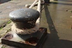 Closeupfoto av det bruna repet arkivbild