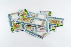closeupfotoet av myanmar pengar, kallas det KYAT Arkivbild