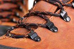 closeupfotoshoelaces Royaltyfria Bilder