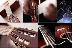 closeupgitarren textures trä två Royaltyfri Bild