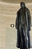 closeupjefferson staty thomas Royaltyfri Foto