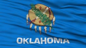 CloseupOklahoma flagga, USA tillstånd Arkivbild