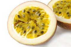 Closeuppassionfruit Arkivbild