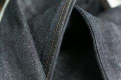 Closeups för stadgrov bomullstvilljeans royaltyfria bilder