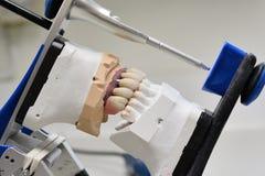 Closeups på praktik för tandläkare` s arkivfoto