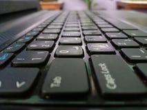 Closeupsikt av datortangentbordet arkivfoton