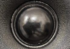 Closeupsikt av den svarta disktanthögtalarehögtalaren Royaltyfria Bilder