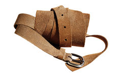 Closeupsikt av det mockaskinn rullande bältet Royaltyfri Fotografi