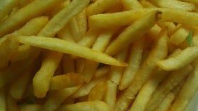 Closeupsikt av franska sm?fiskar f?r potatis eller grillade skivor arkivfoto