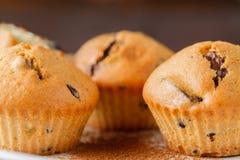 Closeupsikt av nya drog tillbaka muffin Arkivbilder