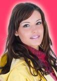 Closeupstående av den unga kvinnan royaltyfri fotografi