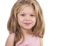 Closeupstående av en gullig liten flicka royaltyfri foto