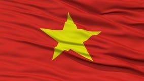 CloseupVietnam flagga Royaltyfri Bild