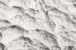 Closeupyttersida av stenmodellen på stort vaggar för garnering i trädgården texturerade bakgrunden i svartvit signal Royaltyfri Bild