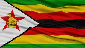 CloseupZimbabwe flagga Royaltyfria Bilder