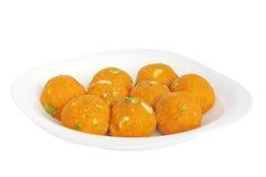 closeview印第安ladoo甜点 免版税库存图片