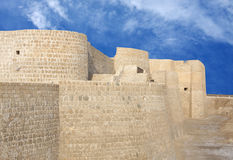 Closeview of the northern side of Bahrain fort Royalty Free Stock Photography