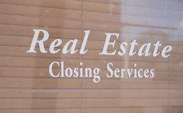 Real Estate Closing Services. Closing also referred to as completion or settlement is the final step in executing a real estate transaction. The closing date is royalty free stock photos