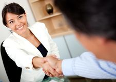 Closing a business deal Royalty Free Stock Photo