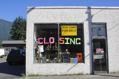 Closing Business. A small business is closing down Stock Images